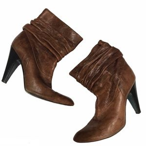 BCBG Maxazria Brown Leather Boots